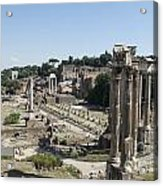 Temple Of Saturn In The Forum Romanum. Rome Acrylic Print by Bernard Jaubert