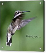 Thank You Card Acrylic Print