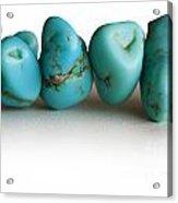 Turquoise Stones Acrylic Print