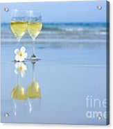 Two Glasses Of White Wine Acrylic Print