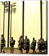 U.s. Army Soldiers Prepare To Board Acrylic Print