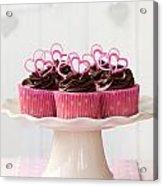 Valentine Cupcakes Acrylic Print