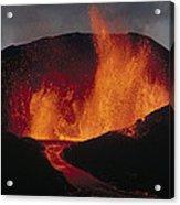 Volcanic Eruption, Spatter Cone Acrylic Print