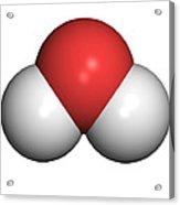 Water Molecule Acrylic Print