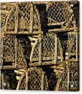Wooden Lobster Traps Acrylic Print