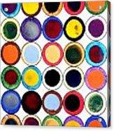 30 Circles Acrylic Print