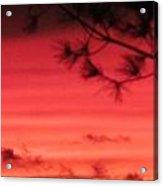 31oct2012 Sunset Seven Hazy Acrylic Print