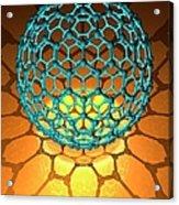 Buckyball Molecule, Artwork Acrylic Print
