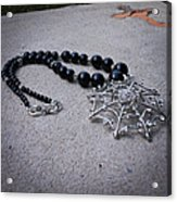 3596 Spiderweb Rhinestone Pendant Necklace Acrylic Print