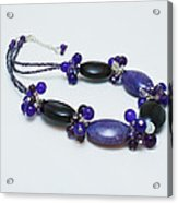 3598 Purple Cracked Agate Necklace Acrylic Print