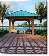 36- Palm Beach Inlet Acrylic Print