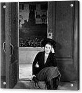 Silent Film Still: Woman Acrylic Print