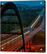 360 Bridge Morning Traffic Acrylic Print by Lisa  Spencer