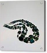 3609 Australian Jasper Triple Strand Necklace Acrylic Print