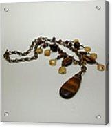 3618 Tigereye And Citrine Necklace Acrylic Print