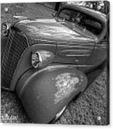 37 Chevy Coupe Bw Acrylic Print