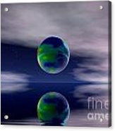 Planet Reflection Acrylic Print by Odon Czintos