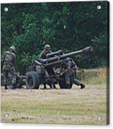 A Belgian Artillery Unit Setting Acrylic Print by Luc De Jaeger