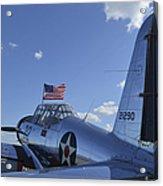 A Bt-13 Valiant Trainer Aircraft Acrylic Print