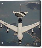 A U.s. Air Force E-3 Sentry Aircraft Acrylic Print