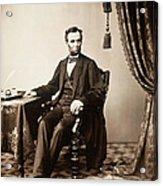 Abraham Lincoln 1809-1865, U.s Acrylic Print by Everett