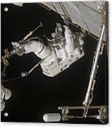 Astronaut Working On The International Acrylic Print