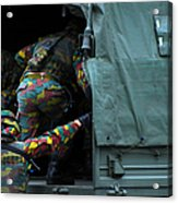 Belgian Paracommandos Entering Acrylic Print