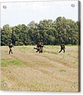 Belgian Paratroopers Proceeding Acrylic Print