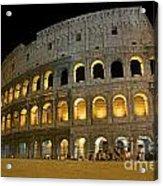 Coliseum Illuminated At Night. Rome Acrylic Print by Bernard Jaubert