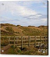 Cornish Seascape Holywell Bay Acrylic Print