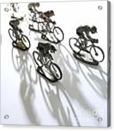 Cyclists Acrylic Print
