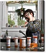 Depression And Addiction Acrylic Print