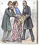 Election Cartoon, 1876 Acrylic Print