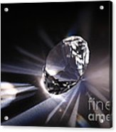 Faceted Quartz Gem Acrylic Print