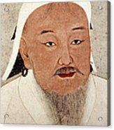 Genghis Khan (1162-1227) Acrylic Print