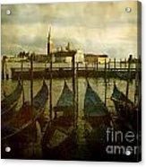 Gondolas. Venice Acrylic Print