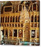 Inside The Old Russian Orthodox Church Acrylic Print