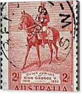 old Australian postage stamp Acrylic Print