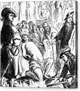 Persecution Of Waldenses Acrylic Print