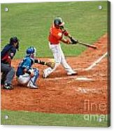 Professional Baseball Game In Taiwan Acrylic Print