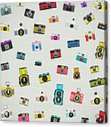Retro Camera Pattern Acrylic Print
