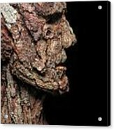 Revered  A Natural Portrait Bust Sculpture By Adam Long Acrylic Print