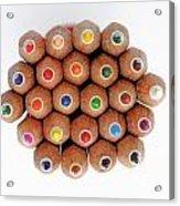 Row Of Colorful Crayons Acrylic Print