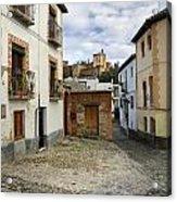 Street In Historic Albaycin In Granada Acrylic Print