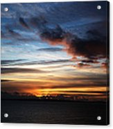 Sunset Over Poole Bay Acrylic Print