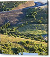 The Landscape Around The Interstate Acrylic Print by Don Mason