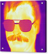 Thermogram Of A Man Acrylic Print