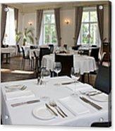 Upscale Hotel Dining Room Acrylic Print