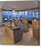 Usa Hi Honolulu Upscale Living Room Acrylic Print