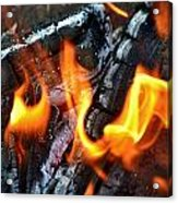 Wood Fire Acrylic Print